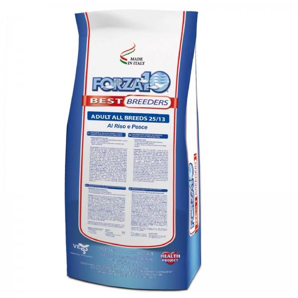 FORZA10 - BEST BREEDERS ADULT ALL BREEDS 25/13 с рисом и рыбой 20кг