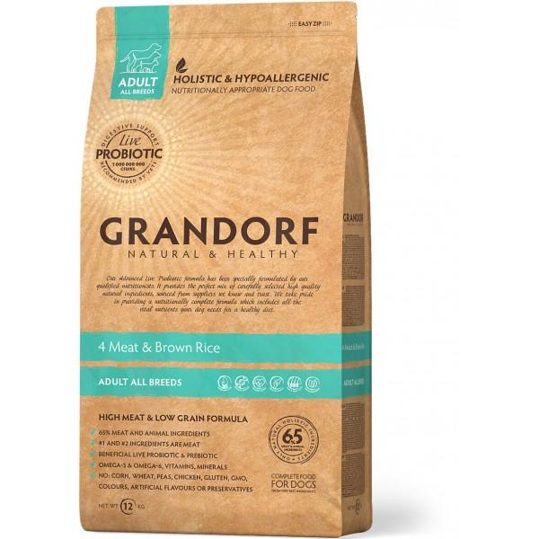 Grandorf- 4 Мяса с рисом Все породы