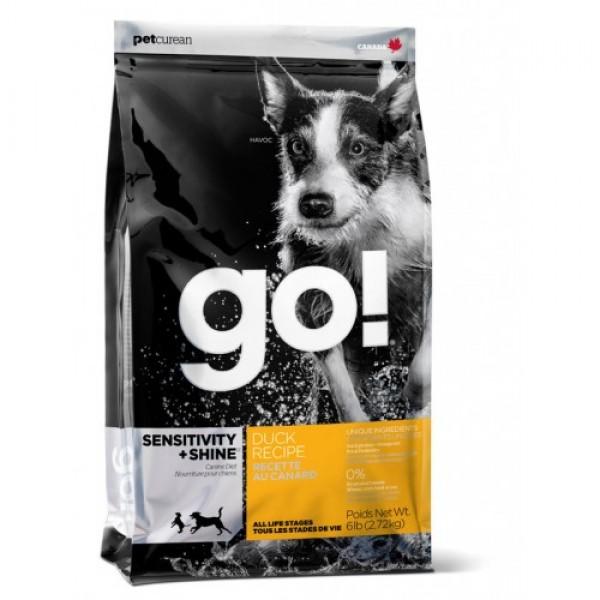 GO!NATURAL корм для щенков и собак с цельной уткой и овсянкой
