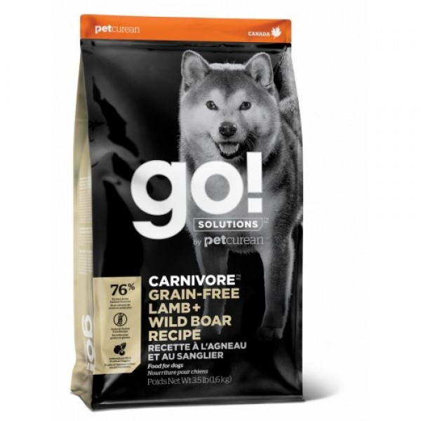 GO!NATURAL беззерновой для собак всех возрастов c ягненком и мясом дикого кабана