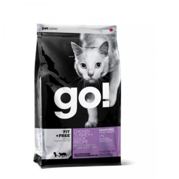 GO!NATURAL беззерновой корм для котят и кошек - 4 вида мяса: Курица, Индейка, Утка и Лосось