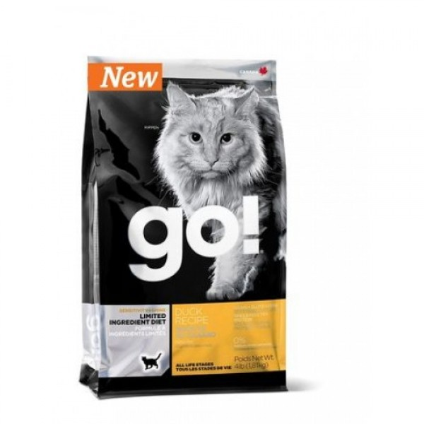 GO!NATURAL беззерновой корм для котят и кошек с чувствительным пищеварением со свежей уткой