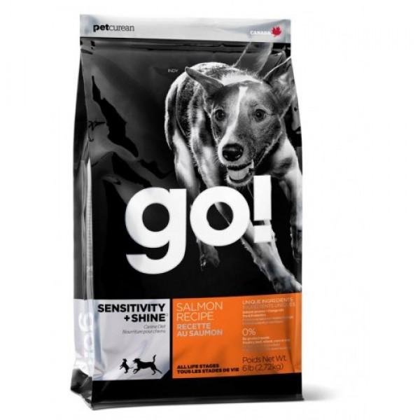 GO!NATURAL корм для щенков и собак со свежим лососем и овсянкой