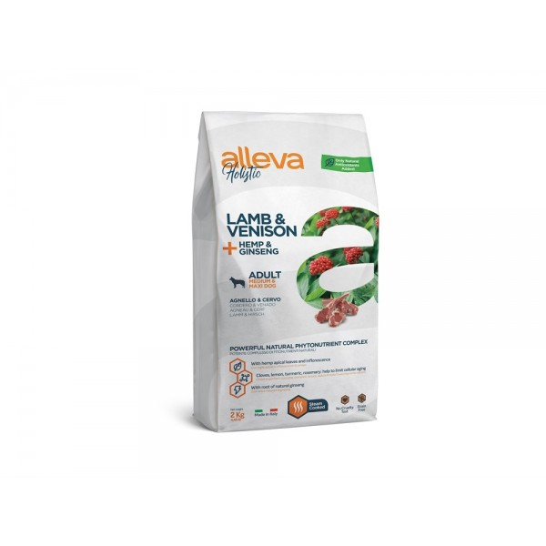 Alleva Holistic для собак средних и крупных пород с ягненком и олениной (Lamb & Venison Adult Medium/Maxi)
