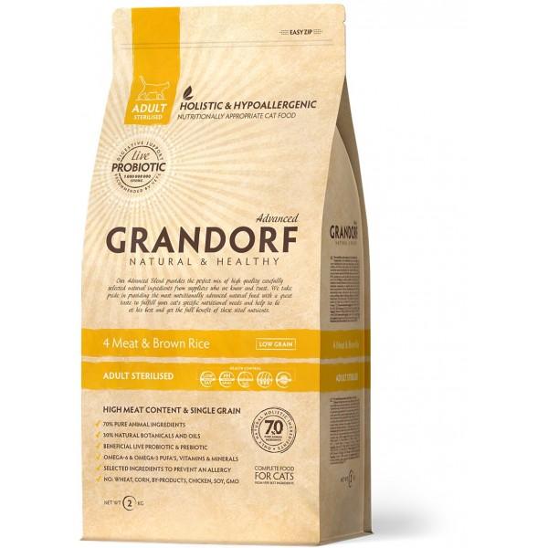 Grandorf - 4 Мяса с рисом Sterilised