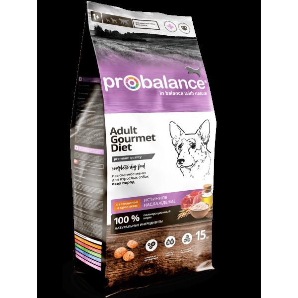 ProBalance Gourmet diet Adult с говядиной и кроликом