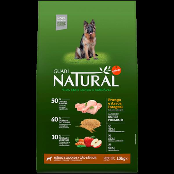 Guabi Natural для пожилых собак средних и крупных пород с цыпленком и коричневым рисом