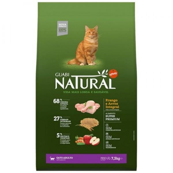 Guabi Natural для взрослых кошек с цыпленком и коричневым рисом
