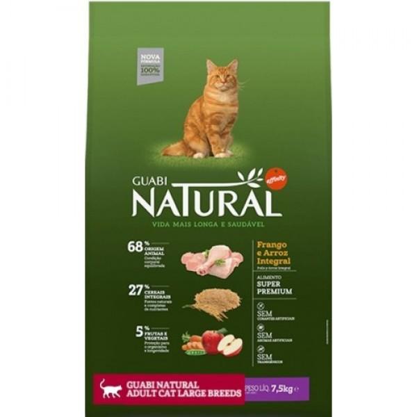 Guabi Natural для взрослых кошек крупных пород (Цыпленок и коричневый рис)
