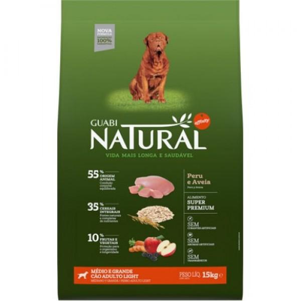 Guabi Natural для взрослых собак средних и крупных пород - ЛАЙТ с индейкой и овсом