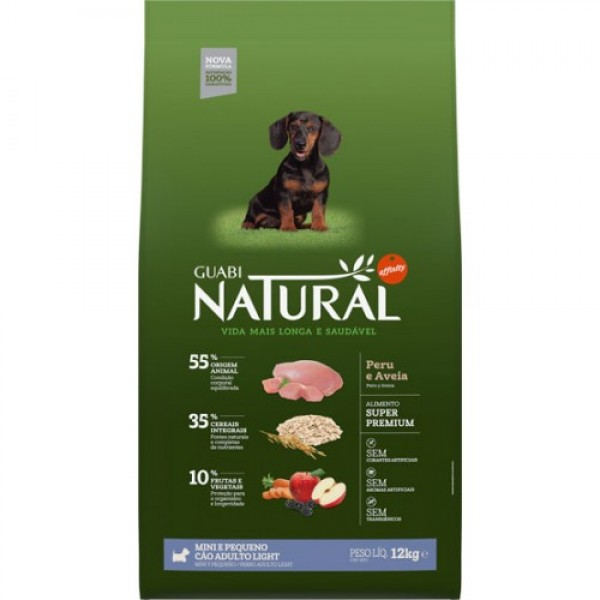Guabi Natural для взрослых собак мелких пород - ЛАЙТ с индейкой и овсом