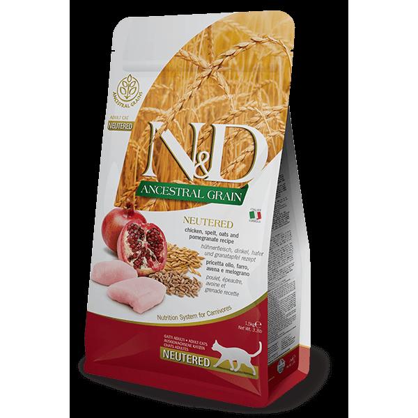 Farmina N&D ANCESTRAL GRAIN Chicken & Pomegranate Neutered