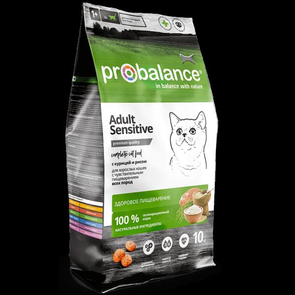 ProBalance Sensitive для взрослых кошек с чувствительным пищеварением, с курицей и рисом